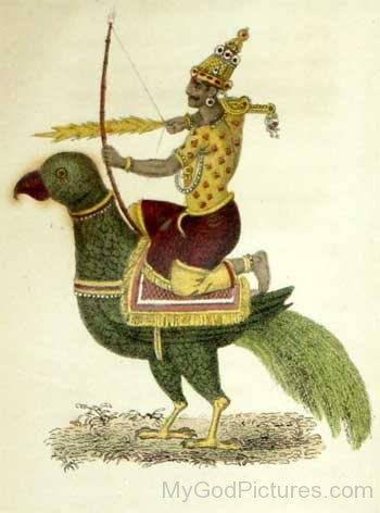 Painting Of Lord Kamadeva