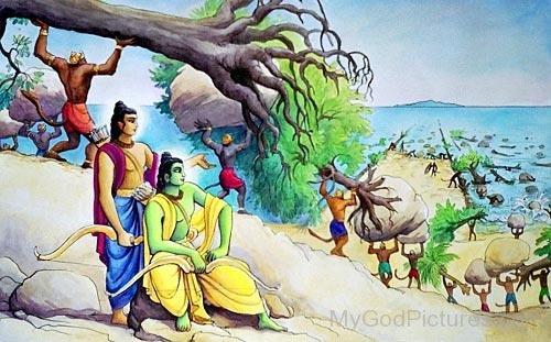 Painting Of Lord Lakshmana And Lord Lakshmana