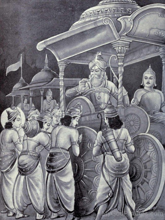 Pandavs Greets Bhishma