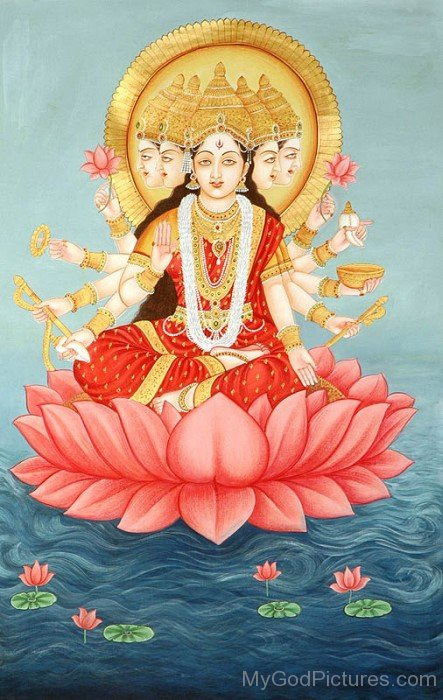 Photo Of Goddess Gayatri