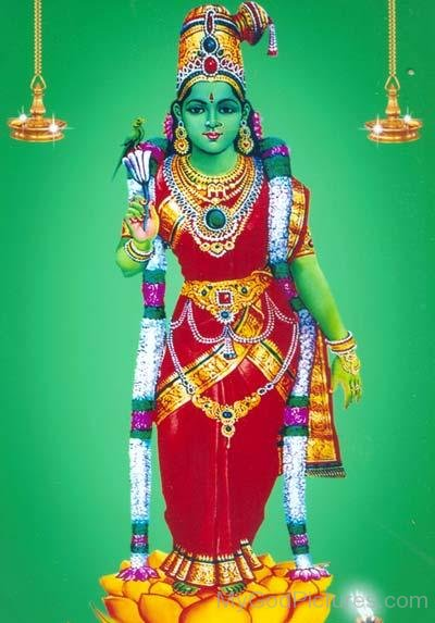 Photo Of Goddess Meenakshi