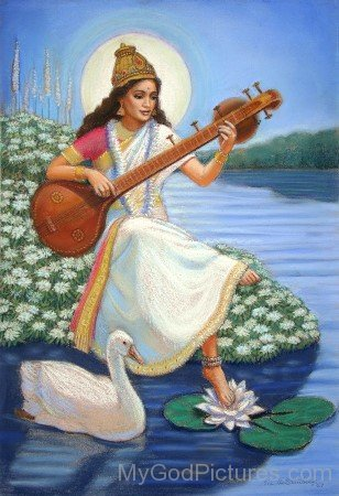 Photo Of Goddess Saraswati