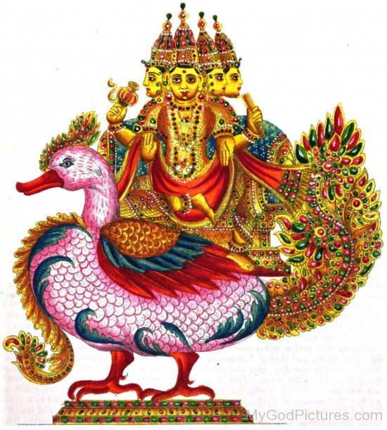 Photo Of Lord Brahma