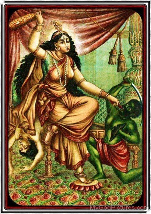 Picture Of Goddess Bagalamukhi