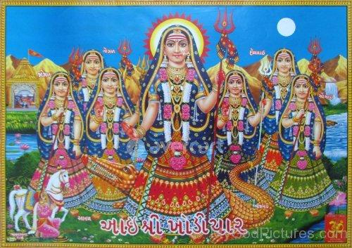 Picture Of Goddess Khodiyar