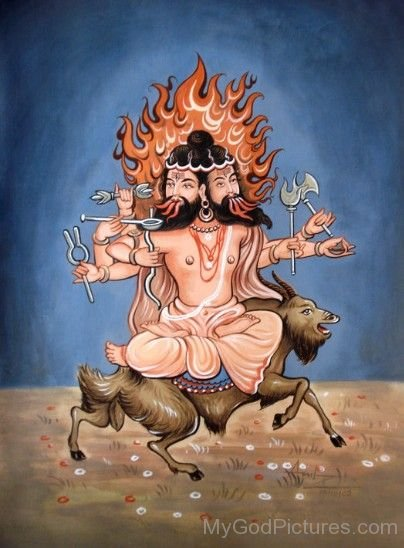 Picture Of Lord Agni