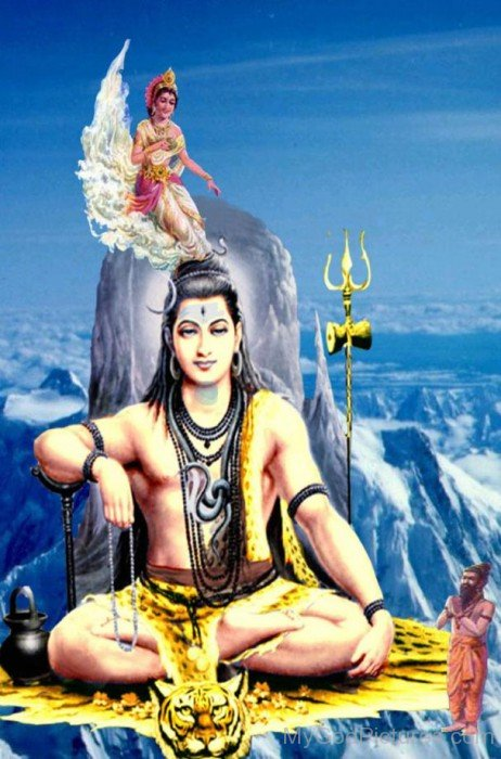 Picture Of Lord Shiva And Goddess Ganga