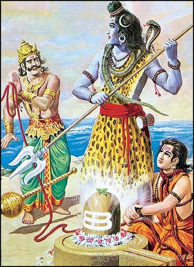 Picture Of Markandeya And Lord Shiva