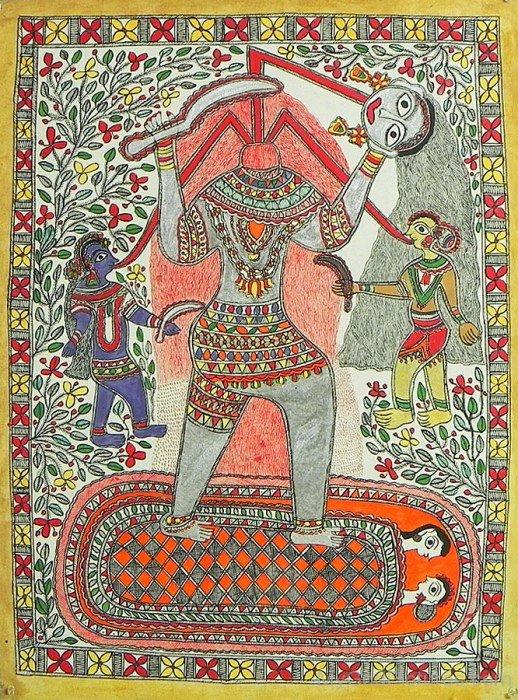 Portrait Of Goddess Chhinnamasta