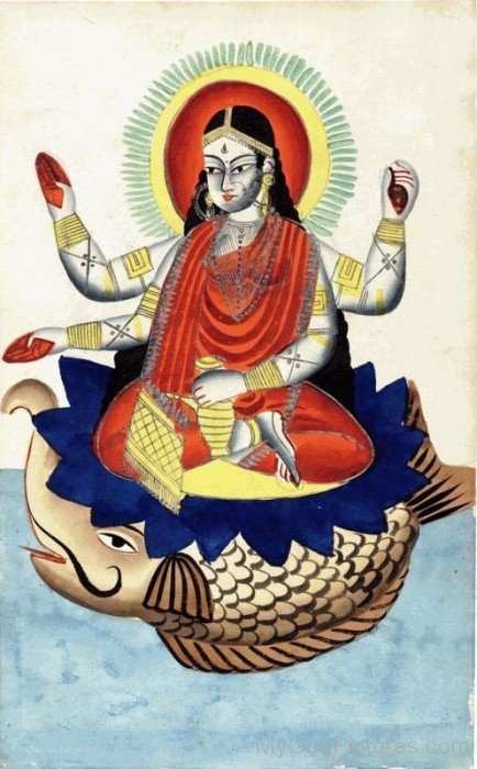 Portrait Of Goddess Ganga
