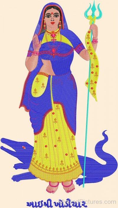 Portrait Of Goddess Khodiyar