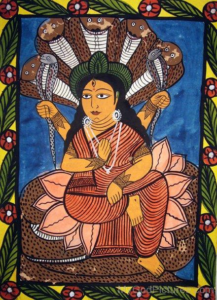 Portrait Of Goddess Manasa