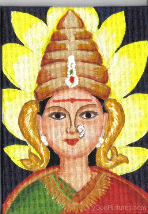 Portrait Of Goddess Shantadurga