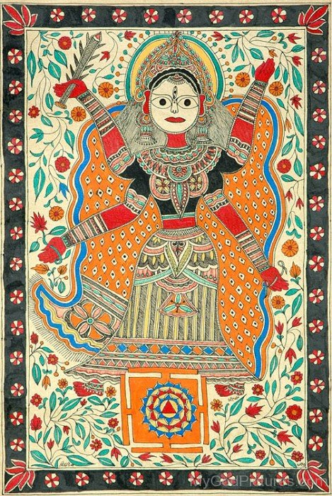 Portrait Of Goddess Tripura Sundari