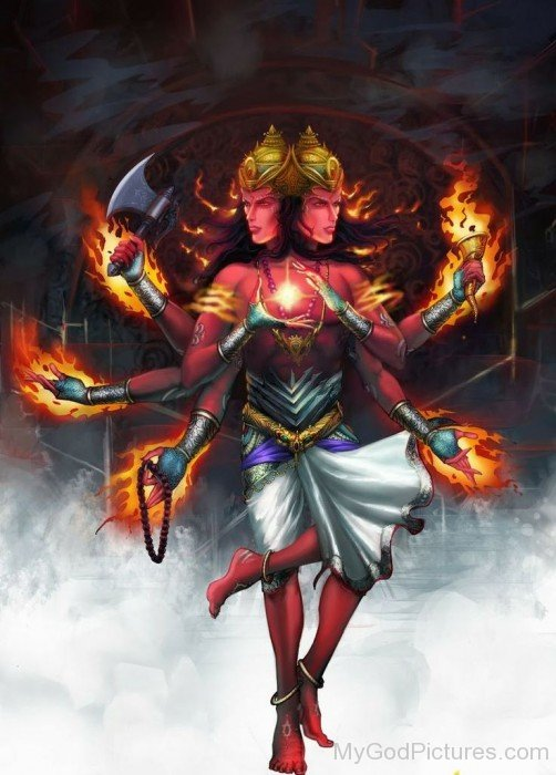 Portrait Of Lord Agni