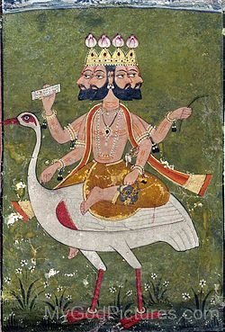 Portrait Of Lord Brahma