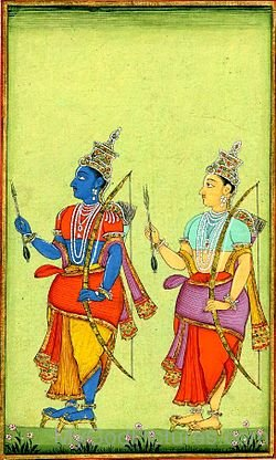 Portrait Of Lord Rama And Lord Lakshmana