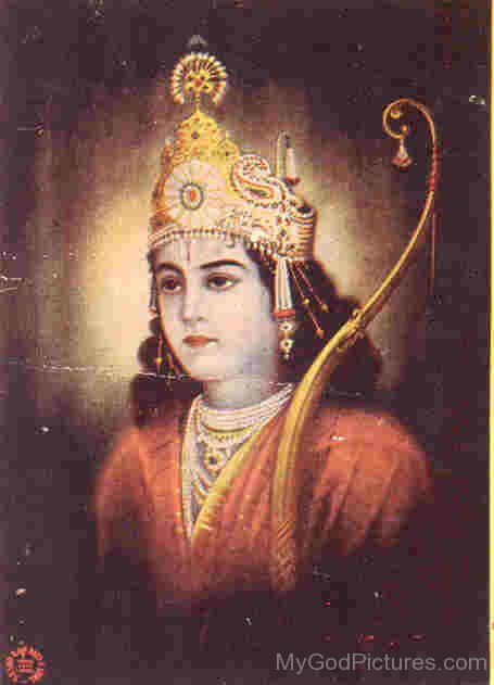 Portrait Of Lord Rama