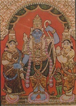 Portrait Of Sri Ram Parivaar