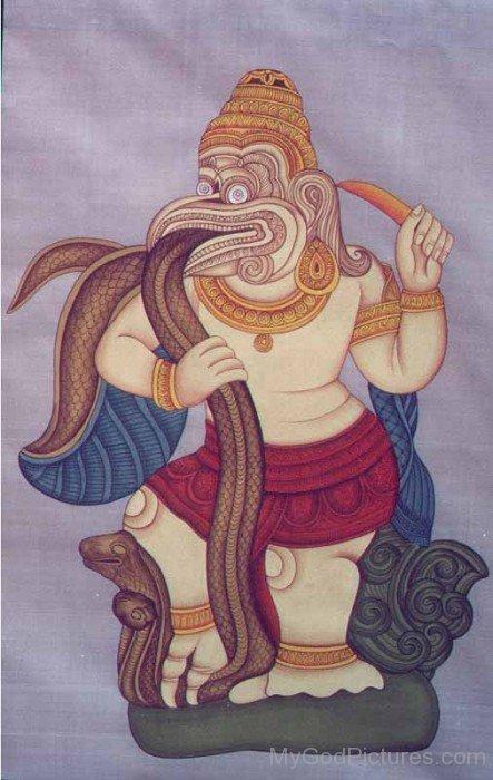 Portrait Picture Of Lord Garuda
