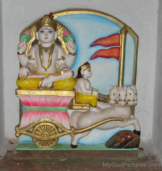 Sculpture Of Adityas In Temple