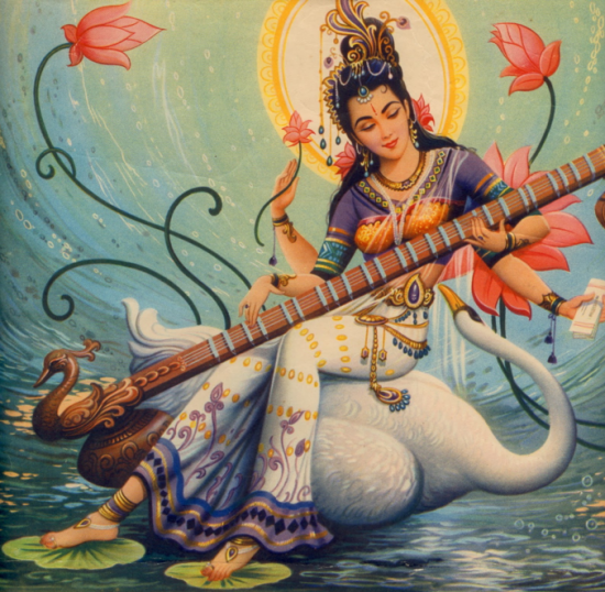 Shakti Goddess Saraswati
