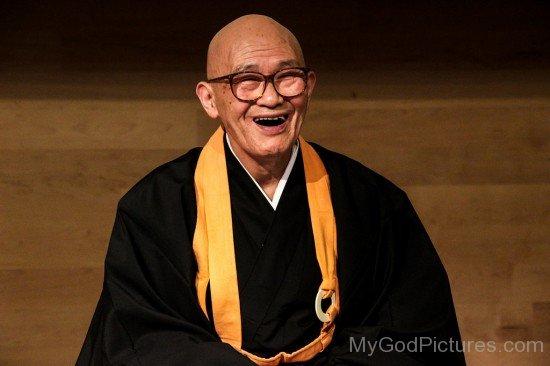 Shodo Harada Laughing
