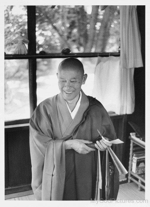 Shunryu Suzuki Laughing