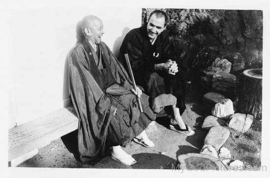 Shunryu Suzuki With His Disciple