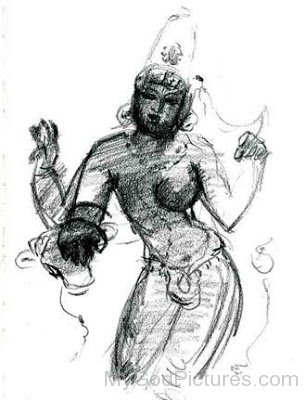 Sketch Of Ardhanarishvara
