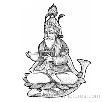 Sketch Of Jhulelal