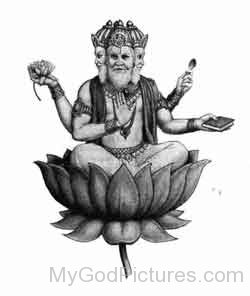 Sketch Of Lord Brahma