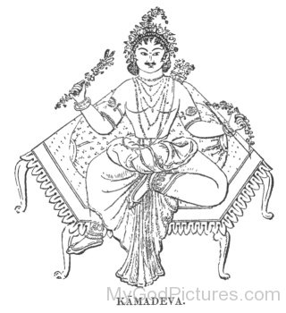 Sketch Of Lord Kamadeva