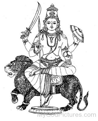 Sketch Of Lord Rahu
