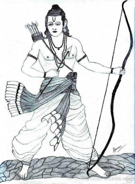 Sketch Of Lord Rama