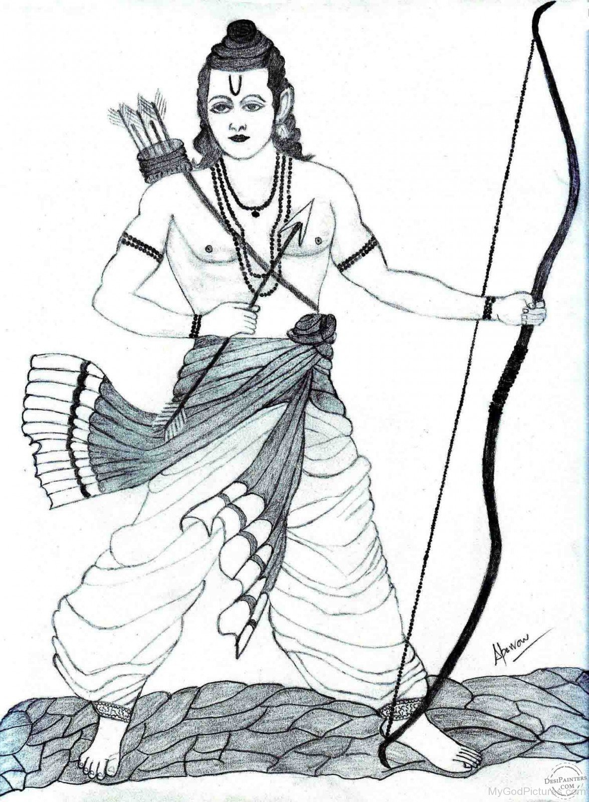 Line Art God Images : Lord rama ji god pictures