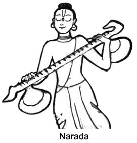 Sketch Of Narada Muni