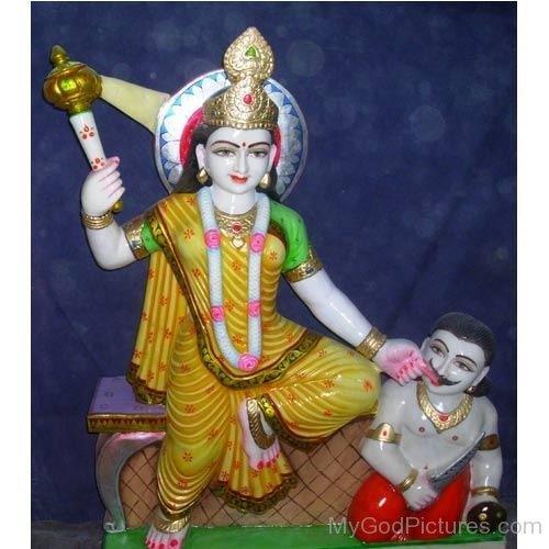 Statue Of Goddess Bagalamukhi