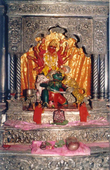 Statue Of Goddess Bhavani In Temple
