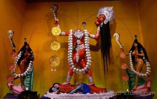 Statue Of Goddess Chhinnamasta