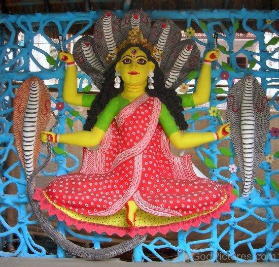Statue Of Goddess Manasa