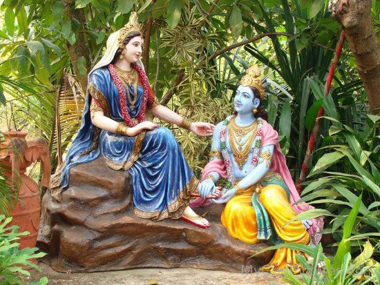 Statue Of Lord Krishna And Goddess Radha