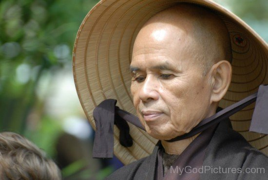 Thich Nhat Hanh Wearing Cap