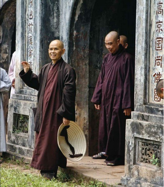 Thich Nhat Hanh With Their Disciples