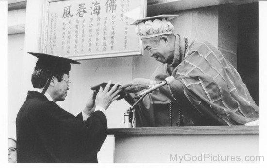 Wesley Gets Diploma From Hsuan Hua