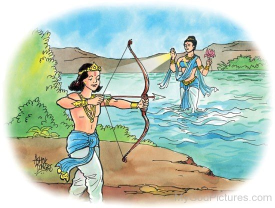 Young Bhishma With Archery