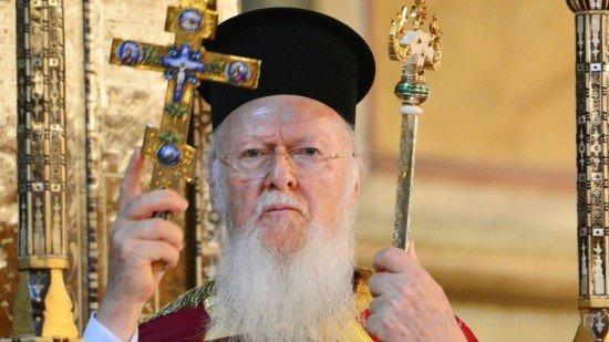 Ecumenical Patriarch Bartholomew I Holding Cross
