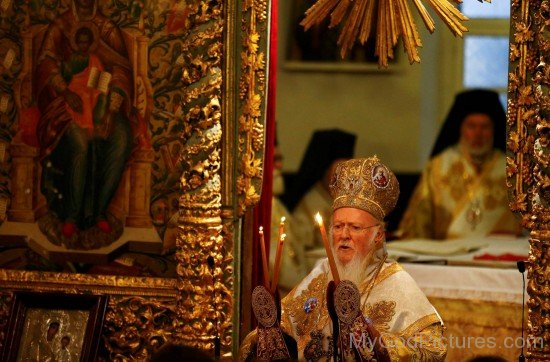 Ecumenical Patriarch Bartholomew I Praying