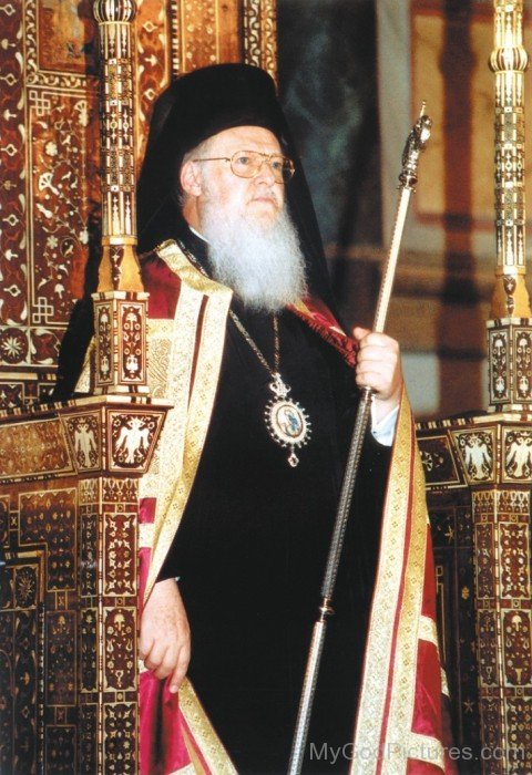 Ecumenical Patriarchs With His Crosier