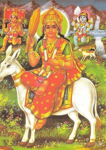 Hanuman Ji Shitla Mata And Bhairo Baba